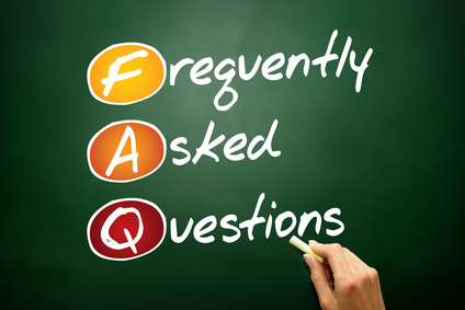 Frequently Asked Questions (FAQ) acronym on blackboard